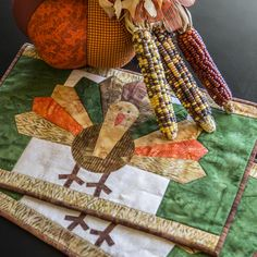 GO! Let's Talk Turkey Placemats free quilting sewing pattern download