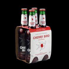 Cherry Bird Hard Cider Packaging Design