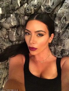Mirror mirror on the wall: Kim is famous for taking over 1200 selfies, which she shares with her fans on social media