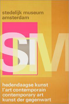 Wim Crouwel – Stedelijk Museum, Amsterdam SM Hedendaagse kunst, L' artcontemporain, Contemporary art, Kunst der Gegenwart. – 1969