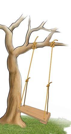Fabriquer une balançoire // http://www.deco.fr/jardin-jardinage/mobilier-jardin/actualite-543642-realiser-balancoire-bois.html