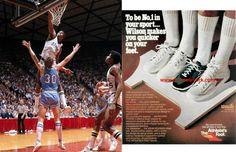 "1979 Magic Bata Wilson by Bata ""John Wooden"" shoes worn by Earv ""Magic"" Johnson during his two-year stay at MSU."
