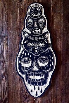 Bryn Perrott | Figura de madera tallada
