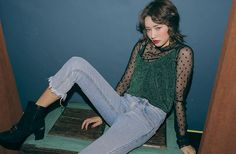 Dotted See-Through T-Shirt | STYLENANDA