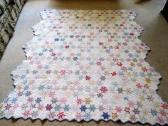 Vintage Antique Handmade Quilt Seven Sisters or Stars Triangles Quilt 1920s | eBay
