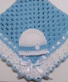 This beautiful hand crocheted granny square baby blanket is made of baby soft yarn. It is made out of a very good high quality acrylic baby yarn. Crochet Blanket Edging, Baby Boy Crochet Blanket, Granny Square Crochet Pattern, Baby Boy Blankets, Lap Blanket, Crochet Granny, Baby Beanie Hats, Newborn Beanie, Manta Crochet