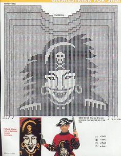 sabeltann genser | strikkesofie: Mønster kaptein sabeltann genser Pirate, Baby Knitting, Knitting Patterns, Diy And Crafts, Knit Crochet, Geek Stuff, Album, Handmade, Bb