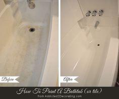 Home Improvement Hacks. – Paint Your Bathtub – Remodeling Ideas and DIY Home Imp… Home Improvement Hacks.