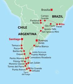 patagonia map - Google Search