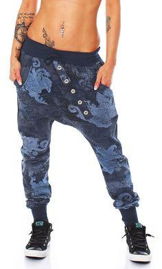 ZARMEXX Fashion -  Pantaloni  - cavallo basso - Donna blu navy Taglia unica