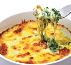Baked Spinach and Cheese Casserole (Naturally Gluten Free) Vegetable Recipes, Vegetarian Recipes, Healthy Recipes, Healthy Facts, Easy Recipes, Healthy Cooking, Cooking Recipes, Spinach And Cheese, Frozen Spinach