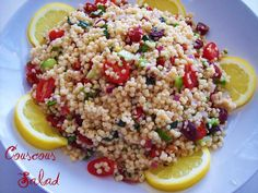 and tomato couscous salad (true grits) uses cucumber, Vidalia onion ...