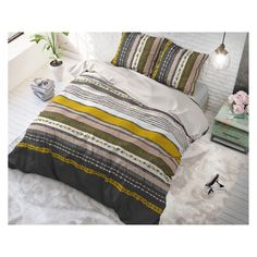 Southern Stripe Geel 240 x 220 Katoen - SpeelgoedFamilie. Comforters, Southern, Stripes, Throw Pillows, Blanket, Home, Website, Yellow, Creature Comforts