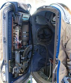 Inside of a space suit. 39 Rare Photos That Expose The Unseen Side Of Things