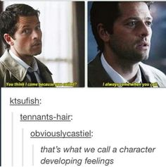 'That's what we call a character developing feelings'