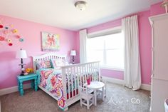 Little girls pink bedroom ideas blue and pink little girl bedroom