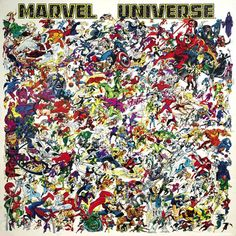 by Marvel Universe poster. Art by Ed Hannigan. Marvel Comic Universe, Marvel Vs, Marvel Dc Comics, Marvel Heroes, Marvel Cinematic Universe, Marvel Room, Comic Book Characters, Marvel Characters, Comic Character