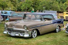 1956 Chevy Bel Air, Chevrolet Bel Air, Classic Chevrolet, Best Classic Cars, Classic Trucks, Carros Vintage, Auto Retro, Sweet Cars, Unique Cars