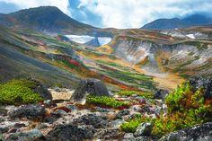 The peak of Akadake Mountain in Daisetsu National Park in Hokkaido,Japan. - Phakon Liamseng/Getty Images
