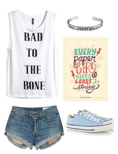 Paper Towns:Margo by stray-arrow on Polyvore featuring polyvore, fashion, style, H&M, rag & bone, Converse and clothing
