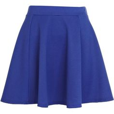 River Island Bright blue textured skater skirt (£10) ❤ liked on Polyvore featuring skirts, bottoms, faldas, saias, sale, royal blue skater skirt, royal blue skirt, flared skirt, blue circle skirt and circle skirt