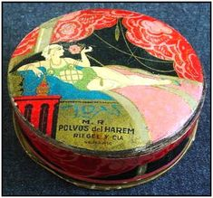 Vintage face powder box