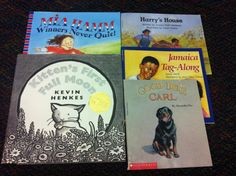 Books that I used for the immersion phase of this unit. These were great to demonstrate small moment writing, detailed illustrations, and beginning/middle/end.