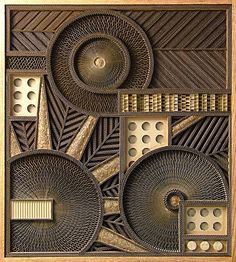 Mark Langan artist from Cleveland, Ohio, recycles corrugated cardboard crates and boxes into art.