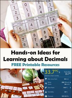 Suzie's Home Education Ideas: Hands-on Ideas for Learning about Decimals {free printables}