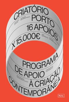"In the context of promoting a cultural action housed by Câmara Municipal do Porto, to design a poster is not to design an ephemeral object: it becomes a cultural trigger catalyzing artistic actions in a territory. ""Criatório"" is the act of creating in a s…"