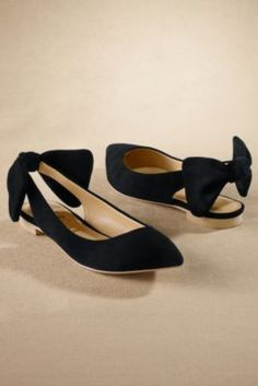 Mon Cheri Flat - Stacked Heel Flat, Suede Flats, Pointed Toe Flat | Soft Surroundings