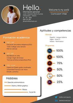 Curriculum Vitae - Welcome to my world on Behance Portfolio Resume, Portfolio Design, Portfolio Covers, Cv Resume Template, Resume Design Template, Graphic Design Cv, Cv Inspiration, Letterhead Design, Creative Resume