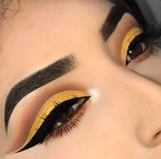 Morphe x Jaclyn Hill Lidschatten-Palette - Augen Makeup Matte Eye Makeup, Yellow Eye Makeup, Yellow Eyeshadow, Eye Makeup Art, Colorful Eye Makeup, Eyeshadow Makeup, Drugstore Eyeshadow, Glitter Eyeshadow, Makeup Brushes