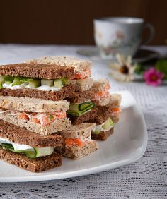 tea sandwiches | afternoon tea, cucumber and carrot sandwich… | Jenny Lunde | Flickr