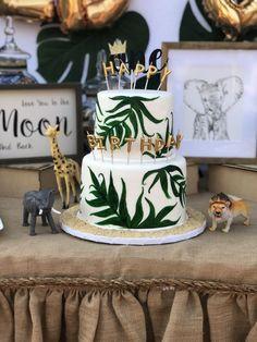65 Ideas baby first birthday safari Birthday Cake Models, Safari Birthday Cakes, Jungle Theme Birthday, Wild One Birthday Party, Baby Boy 1st Birthday, Boy Birthday Parties, Baby Party, Jungle Party, Safari Theme