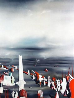 YVES TANGUY (1900/1955), FRENCH PAINTER - A style of painting without a name, without a prison that encloses it - Meeting Benches