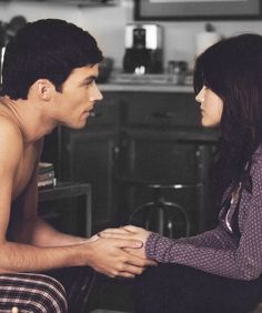 Aria and Ezra from PLL. Swoon. Can't wait for new episodes so I can see their beautiful faces again!