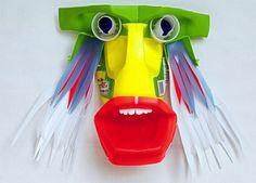 Maschera con labbroni rossi #recycle #art