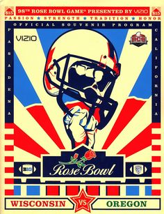 Love this play on old school design for the 2012 Rose Bowl cover.