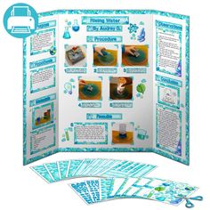 Science Fair Display Board Display Board Poster Project Kit <br> Printable decorations for Science Fair display boards. Add titles, borders, photo mats, photo corners, captions and writing paper to your board to create an A+ display! Science Fair Display Board, Science Project Board, Science Fair Projects Boards, Science Boards, School Projects, Stem Projects, Science Fair Board Layout, Biology Projects, Dna Project