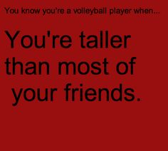 Even most of the guys...where are the tall guys at?!