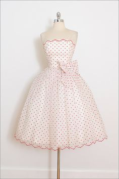 Vintage 50s Dress vintage 1950s dress polka by millstreetvintage