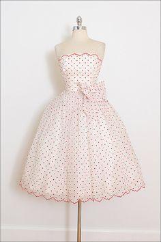 Vintage 50s Dress vintage 1950s dress polka by millstreetvintage