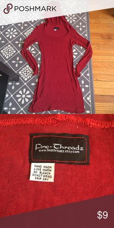 ❤️ Little Red Tunic I had this made from a designer on Etsy for am updated Little Red Riding Hood costume, but the lightweight stretch jersey material just as easily works to toss on over yoga gear or to lounge around the house. Very Stretchy L: 30 W:13 Hang Dry. Custom Tops Tunics