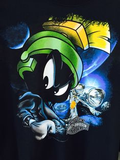 Marvin the Martian Harley shirt Looney Tunes Characters, Classic Cartoon Characters, Cartoon Tv, Classic Cartoons, Cartoon Shows, Cartoon Drawings, Les Looney Tunes, Looney Tunes Cartoons, Disney Cartoons