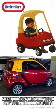 whoa. Smart car=little tykes car