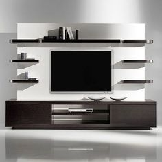 Modern tv wall unit flat screen mount living room projects to try wall decor wall design . Contemporary Tv Units, Modern Tv Wall Units, Post Contemporary, Living Room Wall Designs, Living Room Decor, Living Rooms, Decor Room, Ikea Decor, Tv Wanddekor