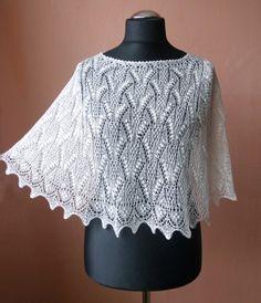 Reesi ремесло блог - Иркутск шарфы, кружева и пряжи: Хаапсалуский шарф с узором пончо