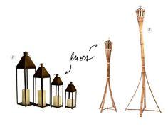 Faz parte de uma ambientação especial alguns recursos de iluminação que trazem pontos de luz e redesenham o espaço de forma lúdica. As Festas Juninas muitas vezes começam à tarde e entram pela noite, precisando da ajuda de tochas, lanternas e até mesmo de velas, além da fogueira, claro! Adoramos as lanternas de ferrocom velas (item 1) e astochas de bambu(item 2). 1, Hair Accessories, Bonfire Parties, Point Light, Candles, Hair Accessory