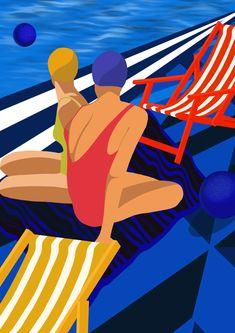 #illustration #illustrationdigital #molitor #nagueuse #swimmingpool